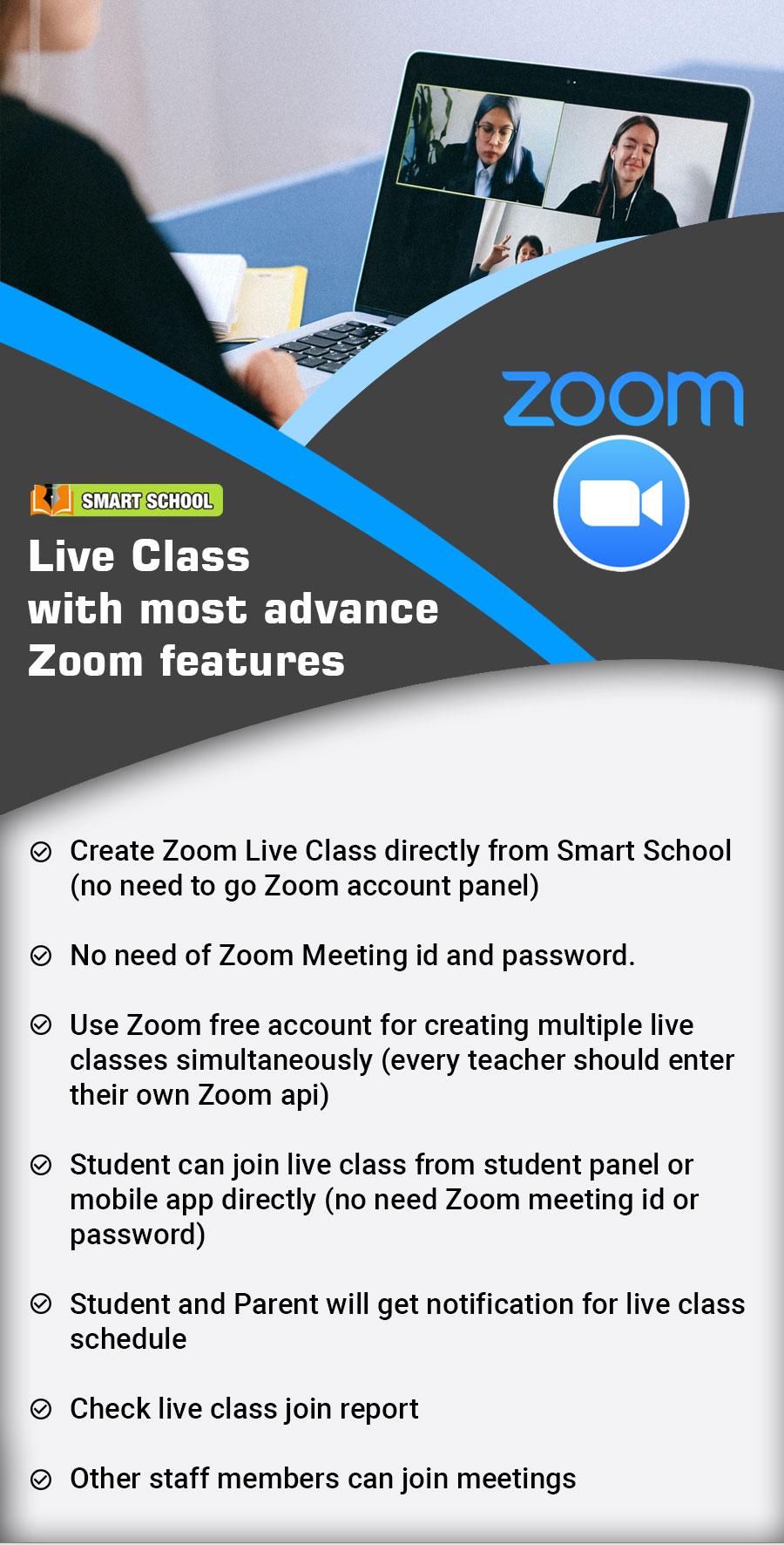 Características de Smart School Zoom Live Class