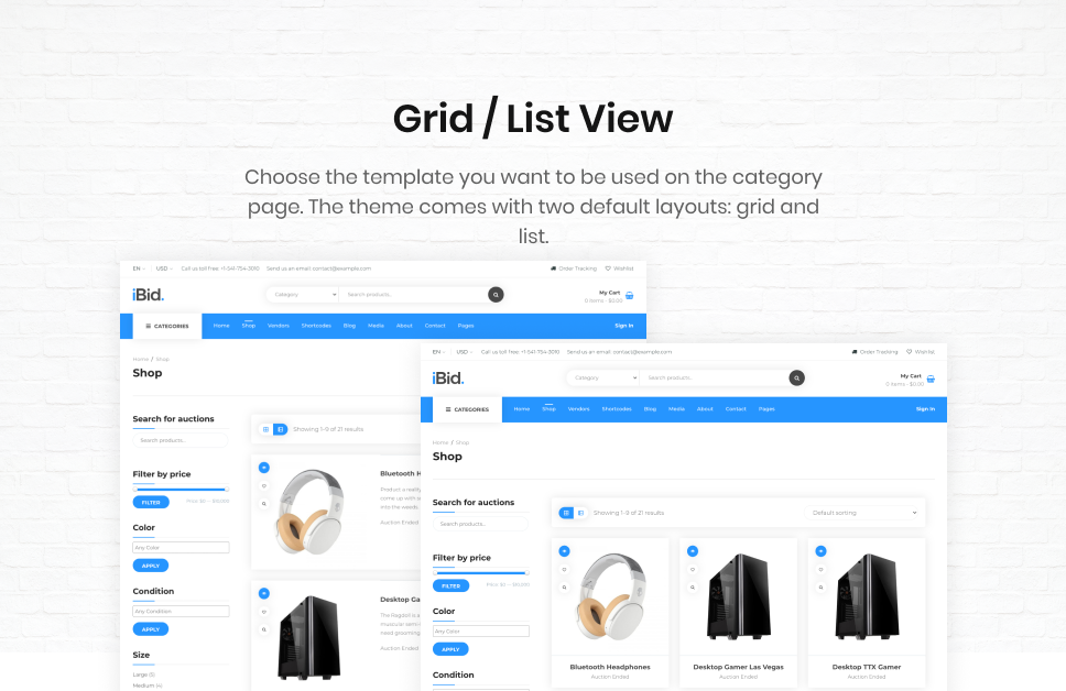 iBid - Multi Vendor Auctions WooCommerce Theme - 25