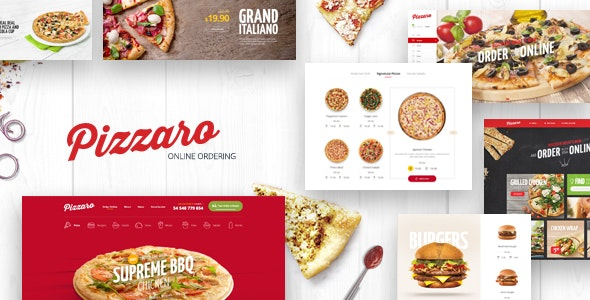 Pizzaro Food Responsive Magento 2 Theme | RTL supported - Magento eCommerce