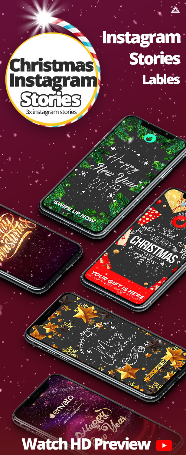 Christmas IGTV / INSTAGRAM STORIES Pack After Effects Template CS5