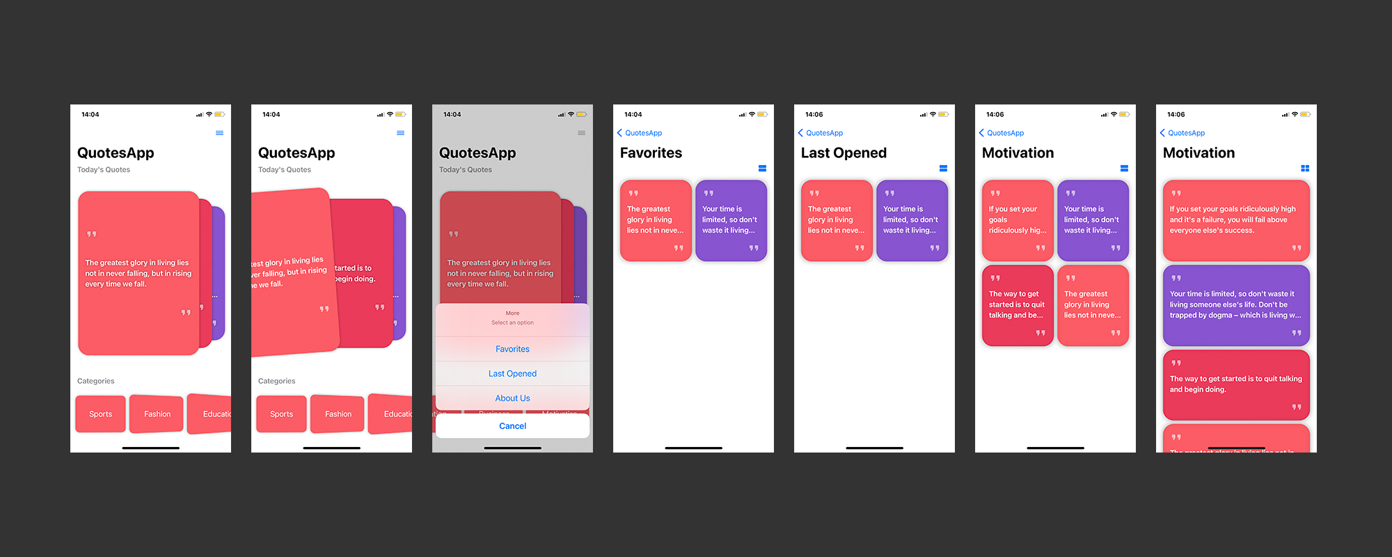 Quotes SwiftUI IOS App - 1