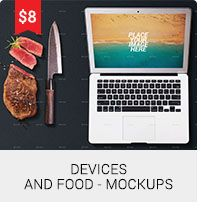 Devices And Food - Mockups