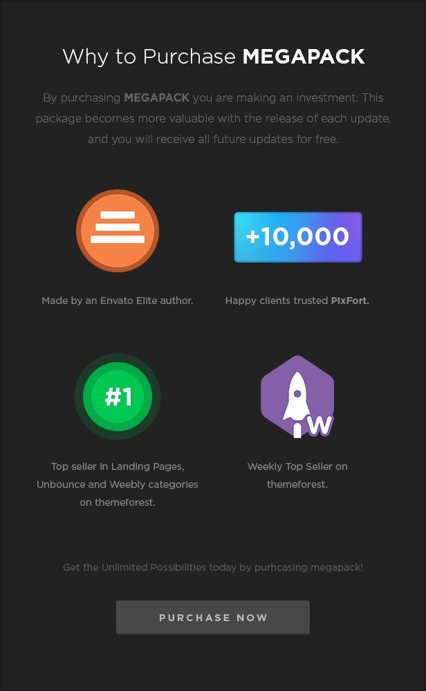 MEGAPACK – Marketing HTML Landing Pages Pack + PixFort Page Builder Access - 44