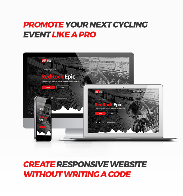 MTB Race - Mountain Bike Racing / Marathon / Cycling Event Website Muse Template