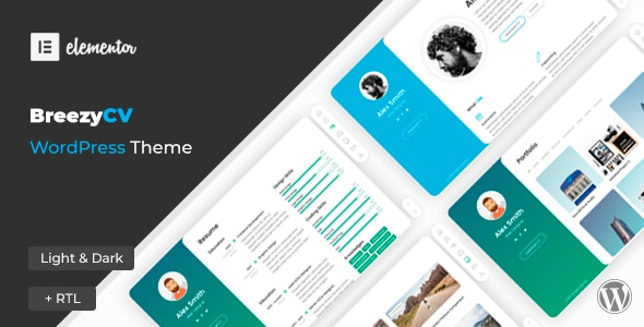 BreezyCV - vCard, Resume & Portfolio Theme - Portfolio Creative