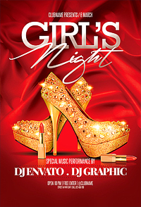 girls night party flyer '14