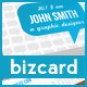 Blue Talk Bubble Creative Designer Business Card  - GraphicRiver Item for Sale