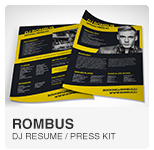 Rombus - DJ Resume Press Kit template