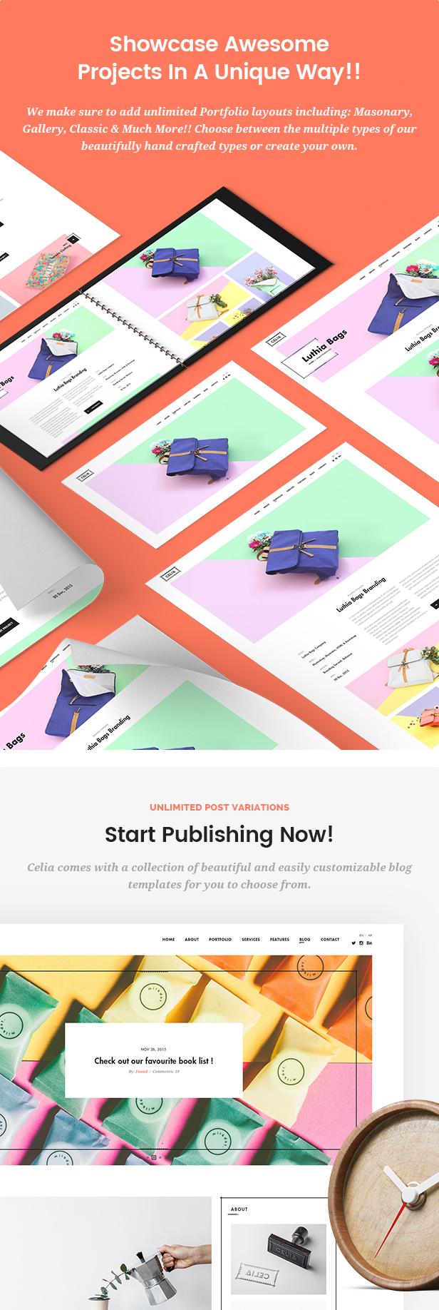 Celia - Innovative and Inspiring Portfolio WordPress Theme for Modern Agencies and Freelancers - 3