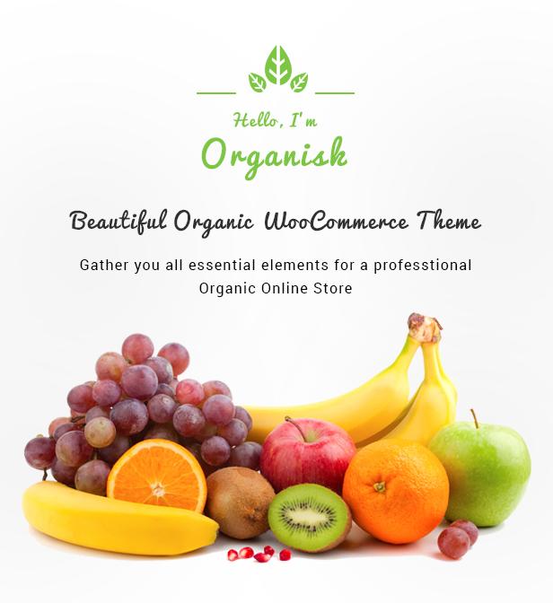 Organisk - Multipurpose Organic WooCommerce Theme - 1