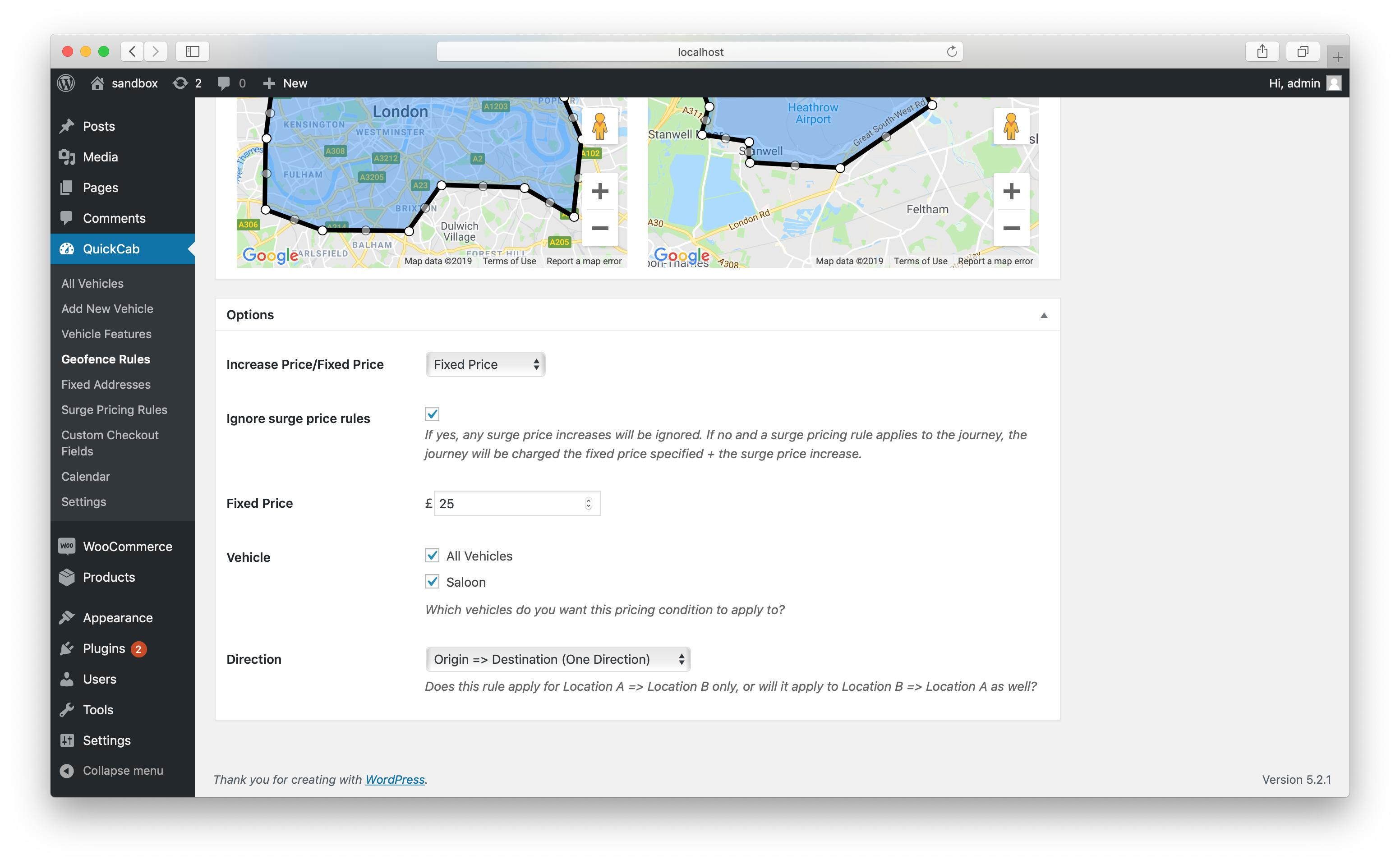 QuickCab: WooCommerce Taxi Booking Plugin - 3