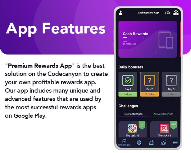 Premium Rewards App - CPI Offers System & Rewards App & HTML5 Mini Games + PHP Laravel Admin Panel - 3