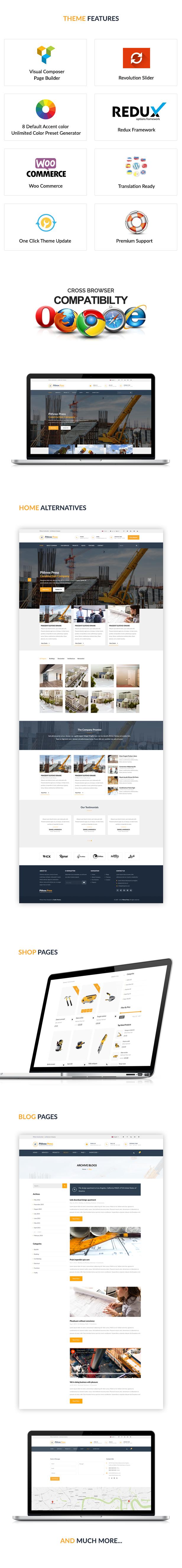 Pithree – Construction & Building WordPress Theme - 1