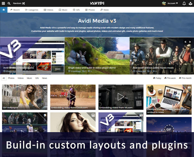 Avidi Media v3 - Ultimate Video, Music, Photo and Gif Sharing Script - 3