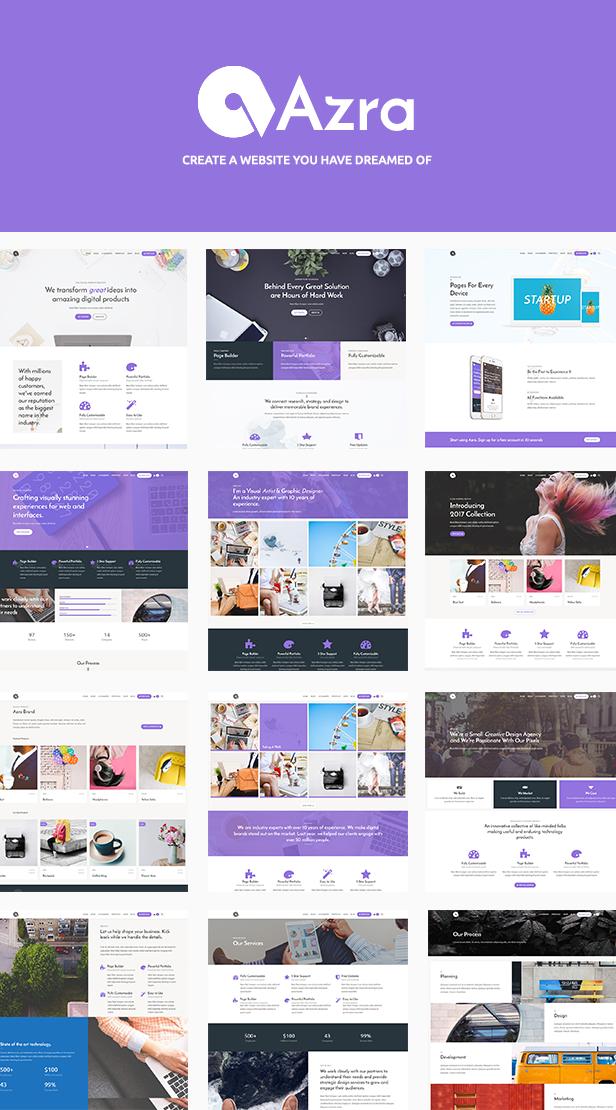 Azra - Creative Multi-Functional Theme - 2