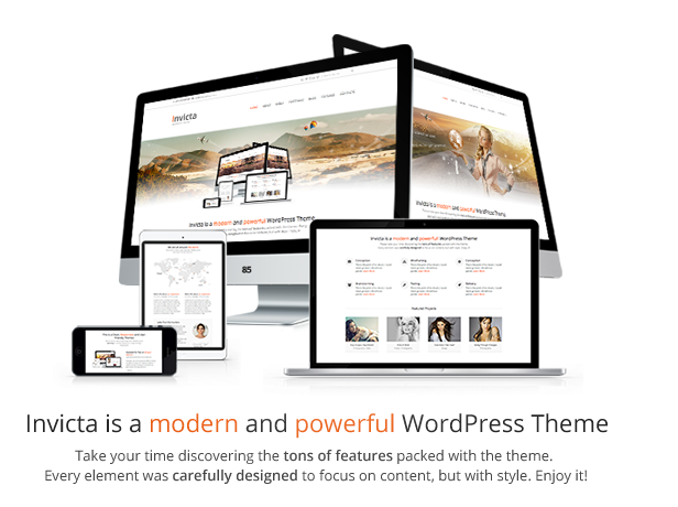 Invicta is a modern and powerful WordPress Theme