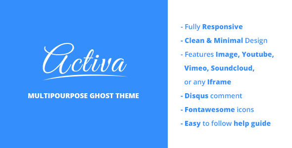 activa responsive multipurpose ghost theme
