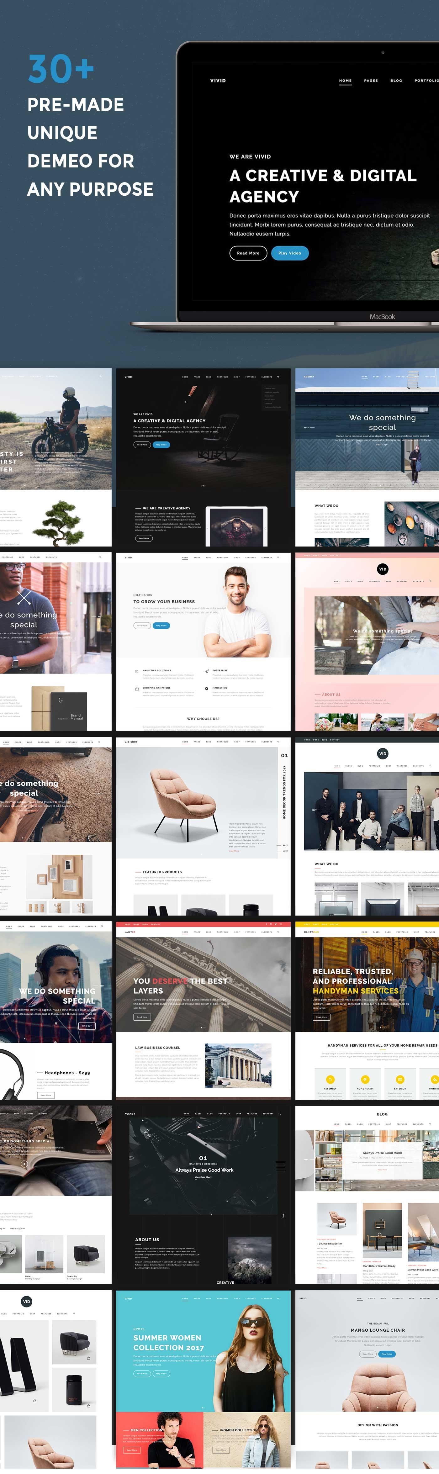 Vivid - Unique Multipurpose Theme For Creative Portfolio & Businesses - 1