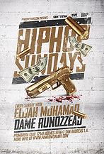 Hip Hop Sundays Party Flyer Template