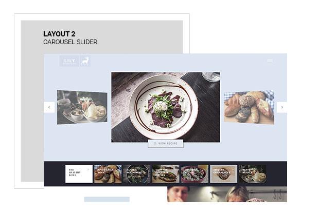 Lily | One Page Restaurant WordPress Theme - 2