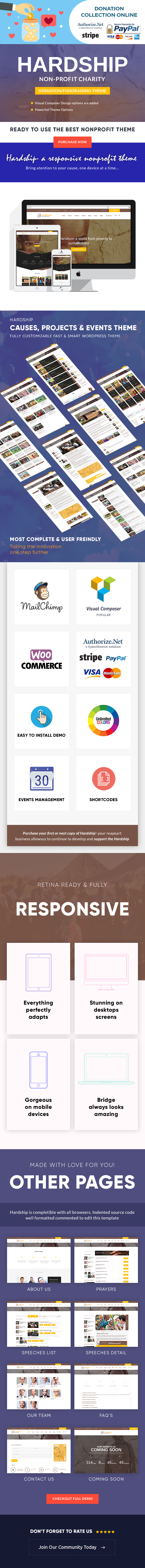 Hardship Charity Donation | Nonprofit / Fundraising WordPress Theme