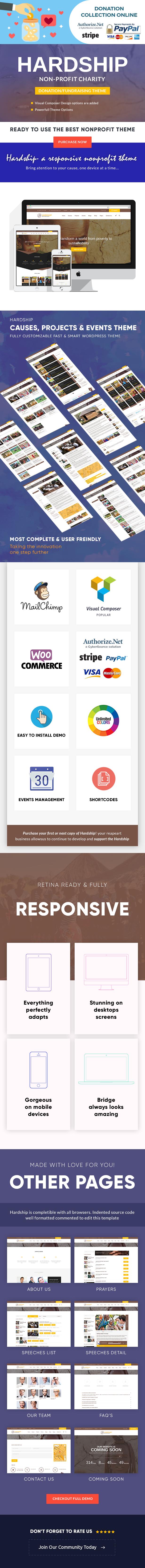 Hardship Charity Donation | Nonprofit / Fundraising WordPress Theme