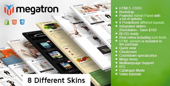 Megatron - multipurpose shopify theme