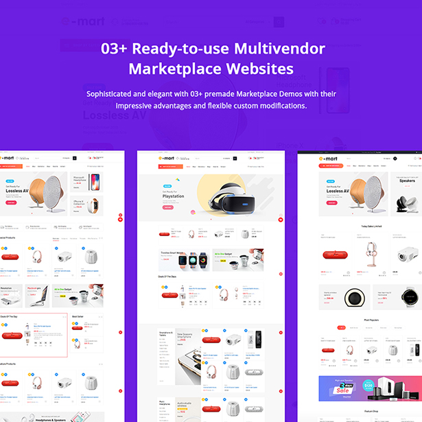 03+ Design Marketplace Website Template