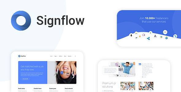 Signflow - Ultra Modern Tech & Startup Drupal 8 Theme