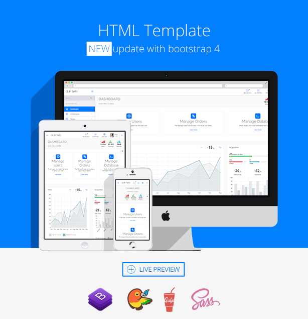 Clip-Two - Bootstrap Admin Template with AngularJS by