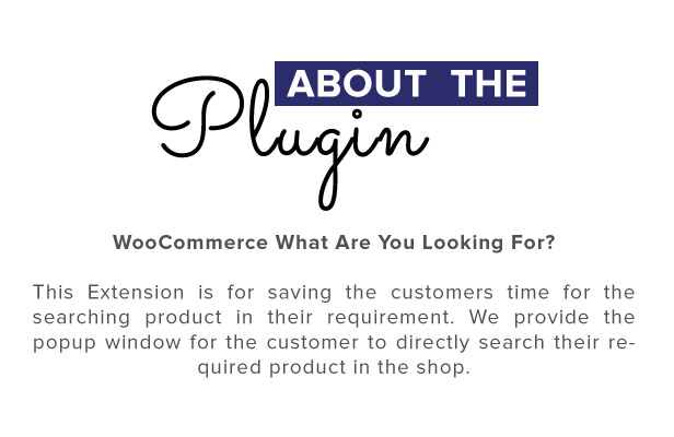 Woocommerce Sale Booster - What are you looking for - 1