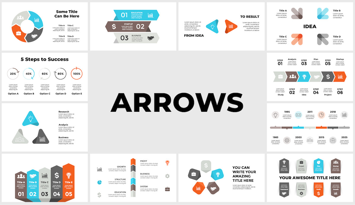 Huge Infographics Bundle! Lifetime Updates! PowerPoint, Photoshop, Illustrator. - 234