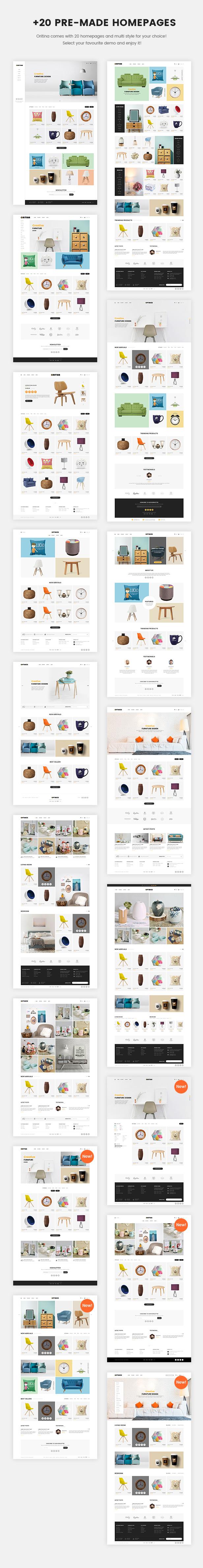 Oritina - Minimal WooCommerce Theme For Furniture, Decor, Interior - 1