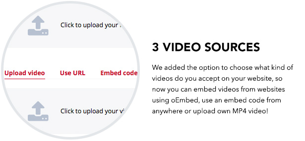 3 video input sources