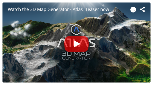 3D Map Generator - Atlas - From Heightmap to real 3D map - 5