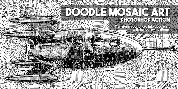 doodle mosaic art