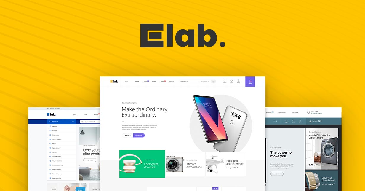 eLab Best eCommerce Multi Vendor Marketplace WordPress Theme