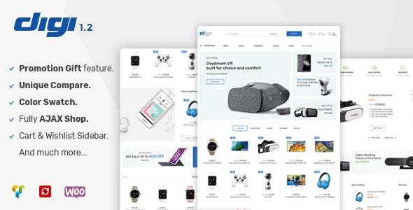 Digi - Electronics Store WooCommerce Theme