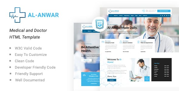 Al-Anwar | Medical and Doctor HTML Template