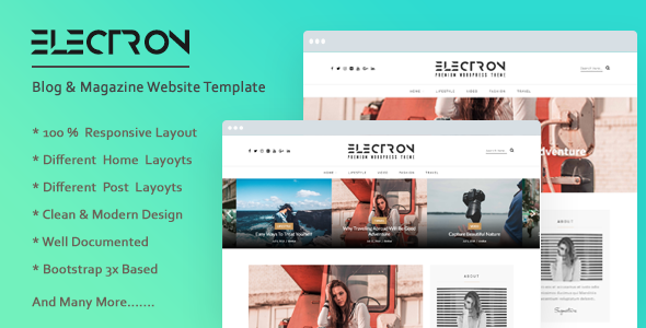 Electron - Creative & Modern Blog HTML Template