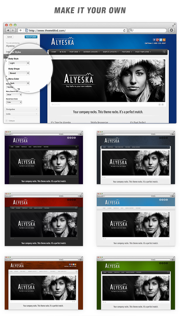 Alyeska Responsive WordPress Theme - 7