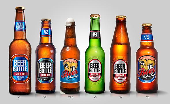 Beer Bottle Mockup V2.5 - 1