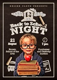 Design Cloud: Back to School Night Flyer Template
