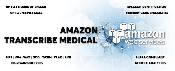 AWS Amazon Deşifre Et Tıp - Tıbbi Konuşma Text Converter - 1