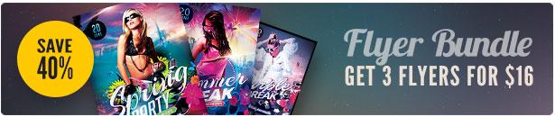 Summer Party Flyer Bundle Vol.02