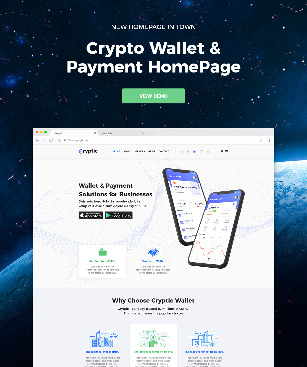 Cryptic - Cryptocurrency WordPress Theme - 1