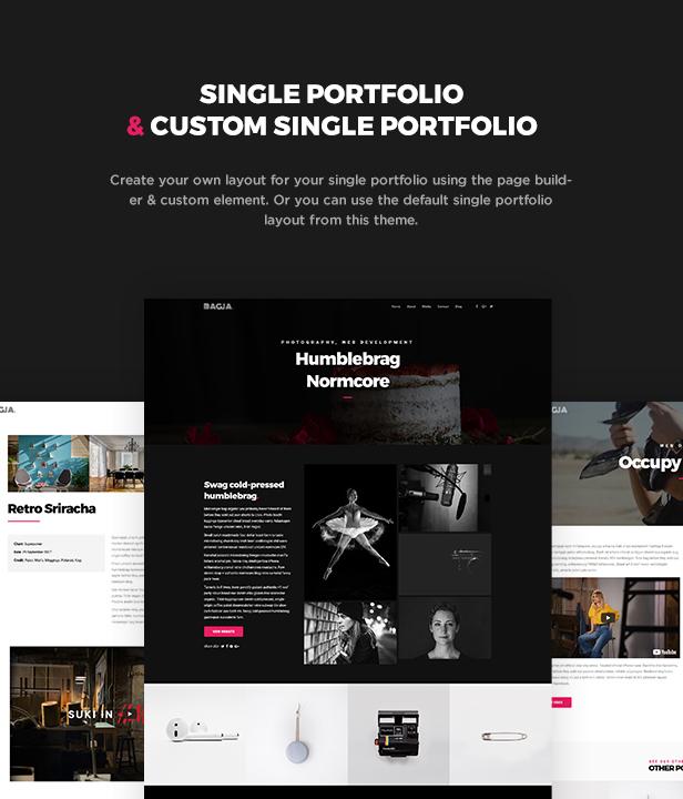 Bagja - Responsive Multi Concept & One Page Portfolio Theme - 6