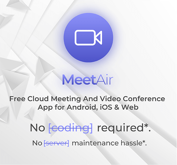 MeetAir - iOS and Android Video Conference App for Live Class, Meeting, Webinar, Online Training - 4