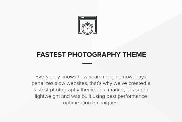 Fast Performance speed portfolio Theme for photographers