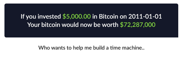 Bitcoin What If? - Historic Investment Calculator - 1
